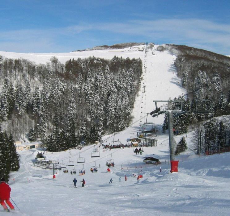 Piste de ski et tÈlÈsiËge