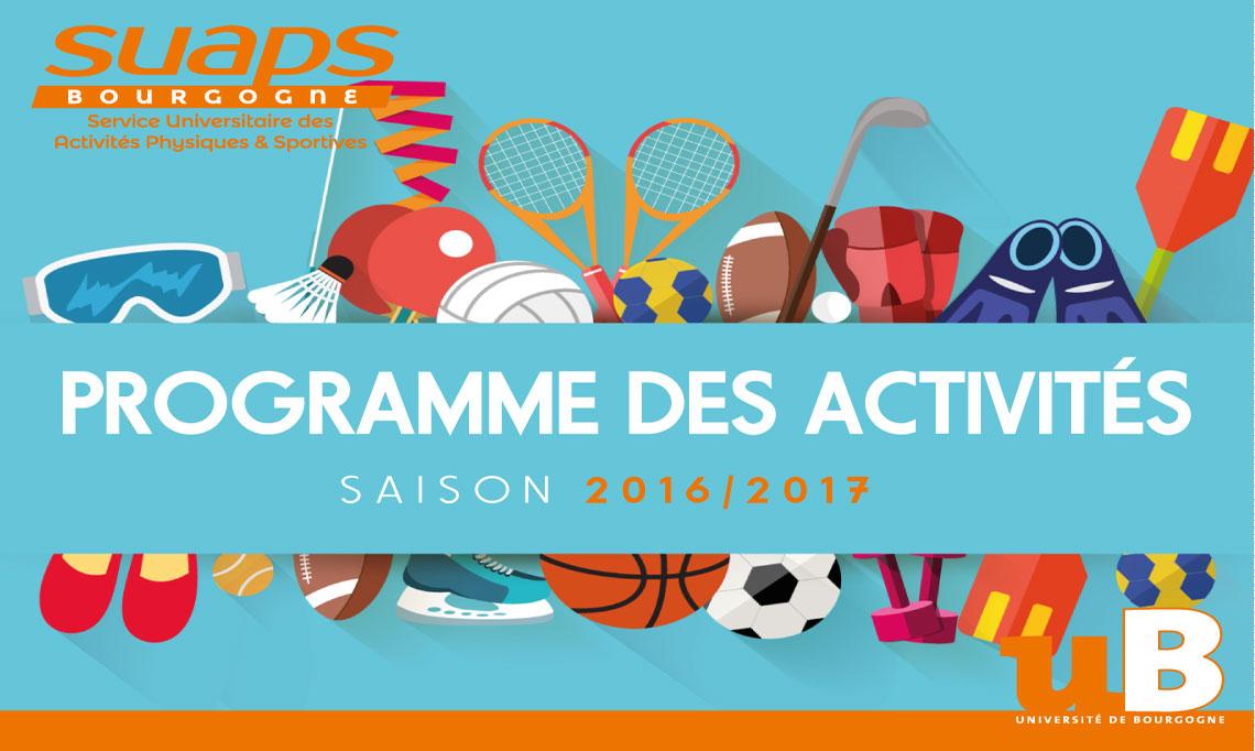 Nouveau programme des activités 2016-2017