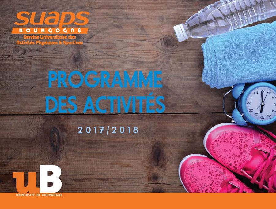 Programme des activités pour l'année 2017-2018