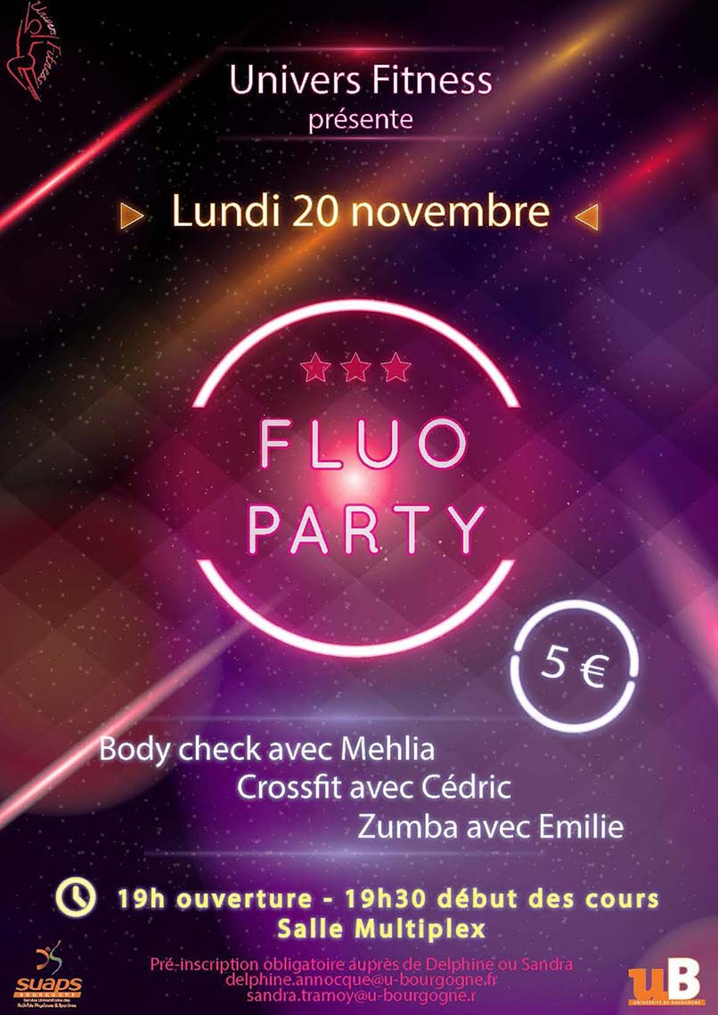 Nuit du fitness : Fluo Party