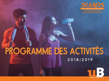 Planning des activités 2018-2019