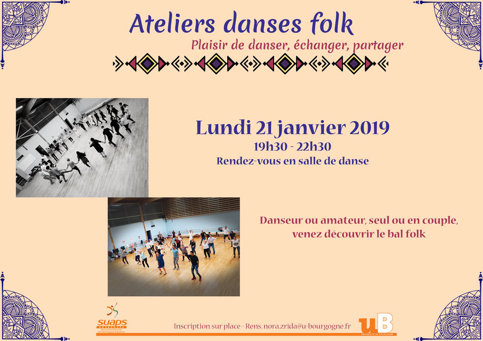 Atelier danses folk – 21 janvier 2019