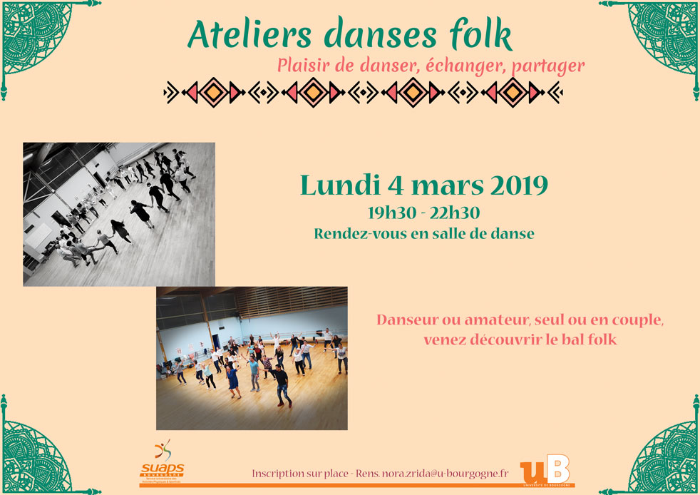 Atelier danses folk – lundi 4 mars