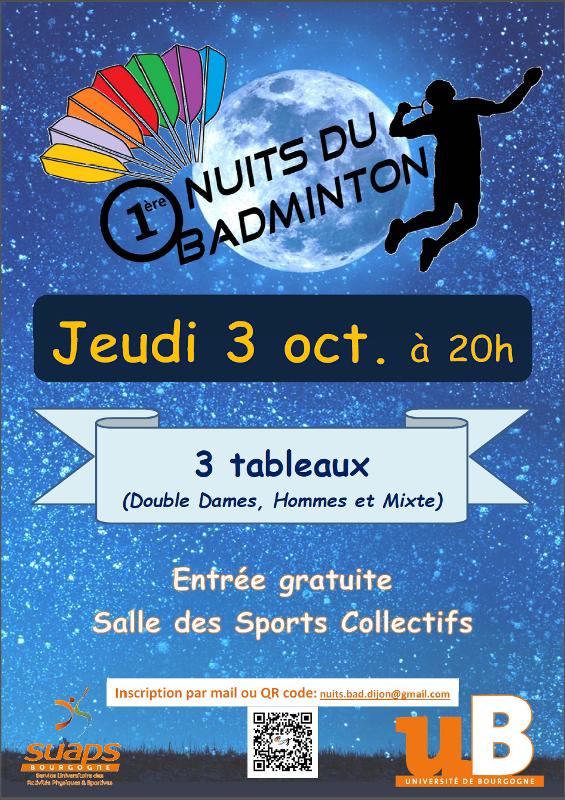 1ère Nuits du badminton