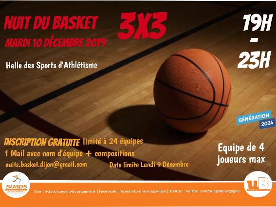Nuit du Basket, le 10/12